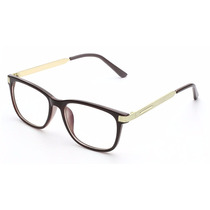 Armação Óculos De Grau - Vintage Metal Retrô Luxo