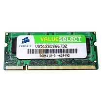 Corsair 512mb Ddr2 So-dimm 667mhz Pc2-5300
