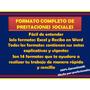 Formatos De Calculo De Prestaciones Sociales