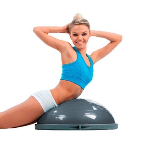 Bosu Meia Bola Balance C  Bomba Pilates Cross Fit Supermedy - R  431 ... 4d1920cbc7a10