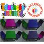Mesinha Infantil Colorida Com 2 Cadeiras Mesa Cadeirinha