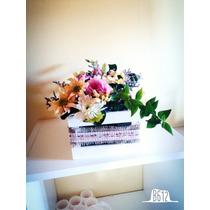 Centro De Mesa Completo Con Flores