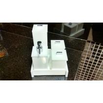 Kits Branco Em Acrilico Para Banheiro