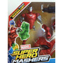 Espectacular Muñeco Ironman Mash Con Moto Original Marvel