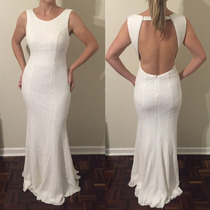 Vestido De Noiva Inteiro Bordado Em Paetê Sereia