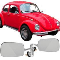 Par Espelho Retrovisor Fusca Cromado Modelo Original Em Inox