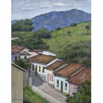 Quadro Pintura Óleo S/ Eucate Paisagem 28x36cm Frete Grátis