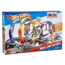 Hot Wheels Mega Pista De Choques Jugueteria Bunny Toys
