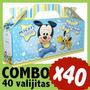 Mickey Bebe Cajita Valijita Bolsita Souvenir Combo X 40