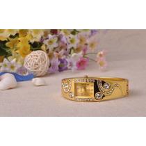 Relógio Novo Liga Diamante, Ouro Pulseira Moda Feminina
