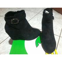 Botas Botines Zapatos Cuña Plataforma Para Mujer Talla 40