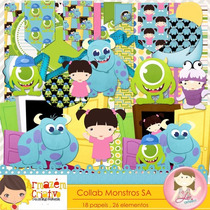 Kit Imprimible Monsters Inc Imagenes Clipart Cod 4