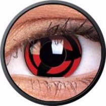 Lentes Contacto Mini Sclera Sharingan Naruto 17m Ojo Grande