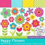 Kit Imprimible Flores 8 Imagenes Clipart