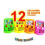 12 Celulares Juguete Piñata Mayoreo Economico Fiesta Bolo