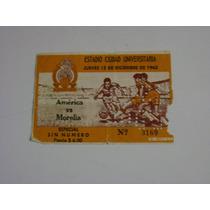 America Vs Morelia 12 Diciembre 1963 Boleto Futbol