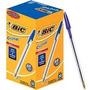 Caixa Caneta Bic Cristal Azul - Ponta Média C/50 Unidades