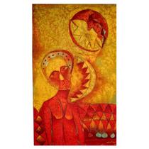 Pintura M Angel Toledo La Espera Óleo / Tela 109x65cm Arte