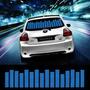 L004ti - Cor Azul -painel Adesivo Led Equalizador Automotivo