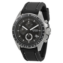 Reloj Cuero Negro Fossil Ch2573 - Regalo Navidad Elegante