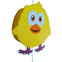 Piñata Pollito Pio Animales De La Granja Artesanal Goma Eva