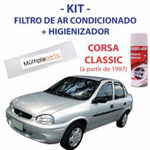 Kit Corsa Classic Filtro Ar Condicionado +spray Higienizador
