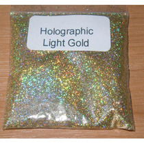 Glitter Holográfico Ultrafino P/cosmético .008 - Ouro - 1 Kg