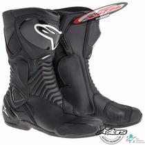 Botas Pista Alta Velocidad Alpinestars Smx 6 Negro Moto Sur