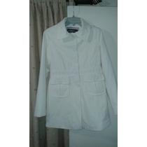 Abrigo Marca Index Color Blanco Talla L
