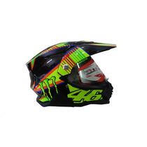 Capacete Monster 46 Off Road Helmet Cross Rali