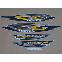 Kit Adesivos Honda Cg Titan 125 Es 2001 Verde