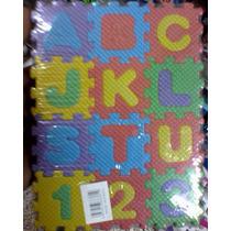 Tapete Didáctico Foami, Numeros Y Letras, 72 Pzas 6 X 6cm