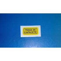 Adesivo Advertencia Trava Capacete Cb Ml Turuna Cg 125 Four