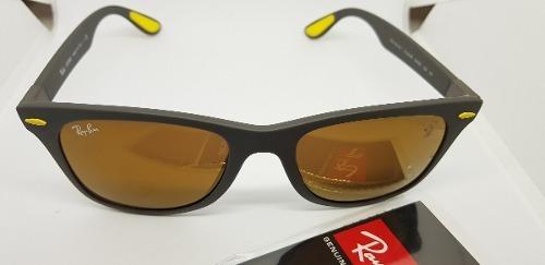 c24bdf810ba Óculos Sol Ray-ban Scuderia Ferrari Rb4195 Amarelo Espelhado - R ...