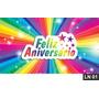 Feliz Aniversário Painel 3,00x1,70m Lona Festa Parabéns Bann