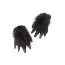 Disfraz De Gorila Guantes Peludos Negros Para Adulto