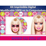 Kit Imprimible Barbie All Doll Up Fiesta Cumpleaños Torta