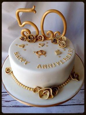 Torta Aniversario Bodas De Oro S 90 00 En Mercado Libre