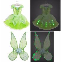 Vestido Com Asa Sininho Tinker Bell Disney Store 5/6 Anos
