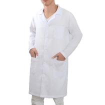 Jaleco Oxford Masculino Médico Bolso Bordado Grátis