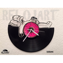 Original Reloj De Pared En Disco De Vinil - Homero Simpson