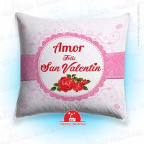 Cojín Enamorados San Valentin Romántico Cuadrado