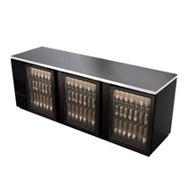 Asber Abbc-94g Refrigerador Contrabarra 3 Puertas Cristal