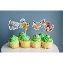 Toppers Para Cupcakes Pokemon Candy Bar Cotillon