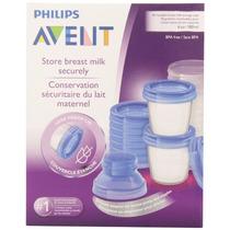 Vasos Para Almacenar Leche Materna Avent, 6 Onzas Pack 10