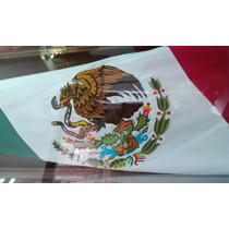 Bandera Mexico Bordada Doble Vista 90x1.58 Mt Razo Reglament
