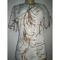 Blusa Camisa Crepe De Seda Tamanho M