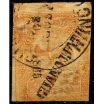 1730 Clásico Scott #23 Guanajuato #10 1865 2 Reales Usado