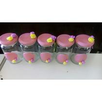 Especieros De Vidrio Decorados En Porcelana Fría Souvenirs