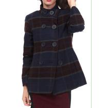 Saco Abrigo Cuadros Vintage Vestir Talla 34mex